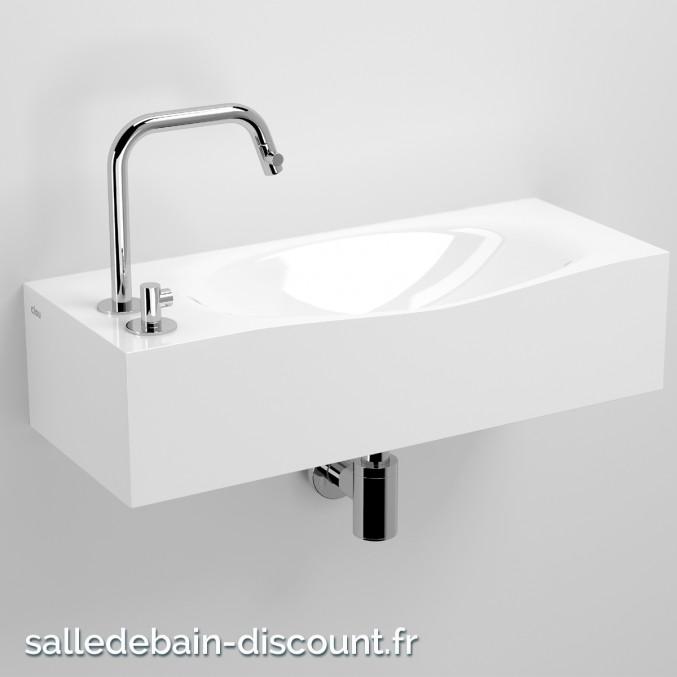 CLOU HAMMOCK-LAVE-MAINS en marbre minéral blanc-CL_03.08270