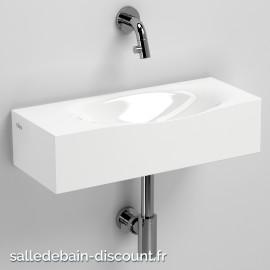 CLOU HAMMOCK-LAVE-MAINS en marbre minéral blanc-CL_03.08370