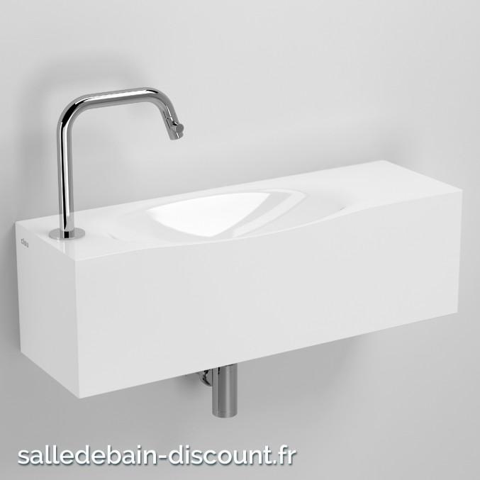 CLOU HAMMOCK-LAVE-MAINS en marbre minéral blanc-CL_03.08372
