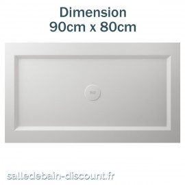 TEUCO-RECEVEUR DE DOUCHE PAPER 90cmx80cm EN DURALIGHT BLANC-910A