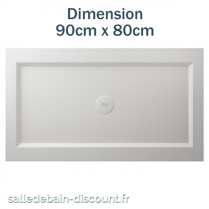 TEUCO-RECEVEUR DE DOUCHE 90cmx80cm EN DURALIGHT