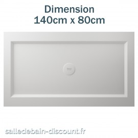 TEUCO-RECEVEUR DE DOUCHE PAPER 140cmx80cm EN DURALIGHT BLANC-925A
