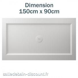 TEUCO-RECEVEUR DE DOUCHE PAPER 150cmx90cm EN DURALIGHT BLANC-930A