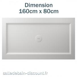 TEUCO-RECEVEUR DE DOUCHE PAPER 160cmx80cm EN DURALIGHT BLANC-933A