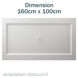 TEUCO-RECEVEUR DE DOUCHE PAPER 160cmx100cm EN DURALIGHT BLANC-934H