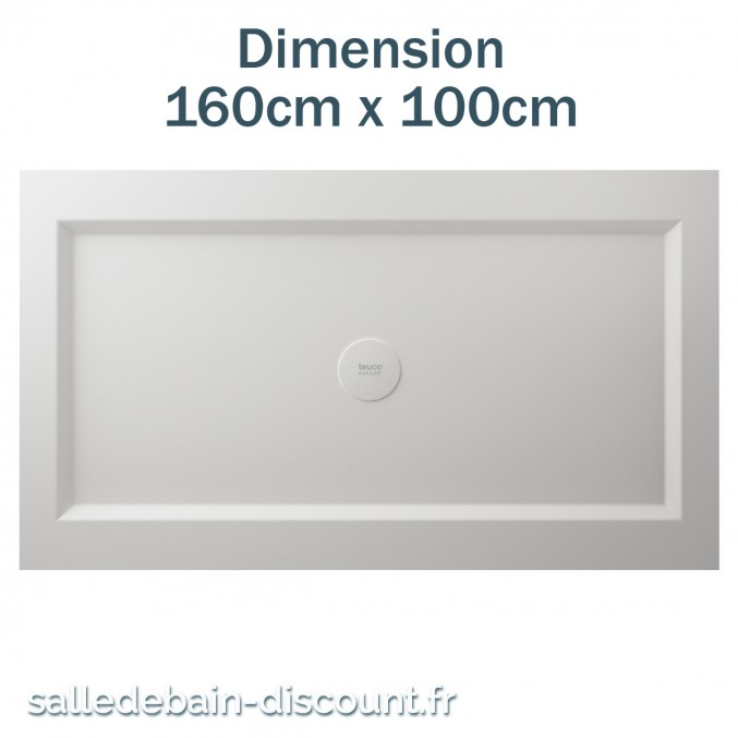 TEUCO-RECEVEUR DE DOUCHE 140cmx80cm EN DURALIGHT
