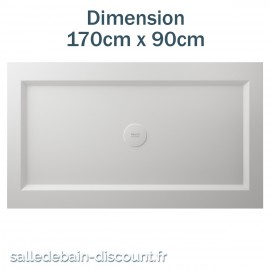 TEUCO-RECEVEUR DE DOUCHE PAPER 170cmx90cm EN DURALIGHT BLANC-936A