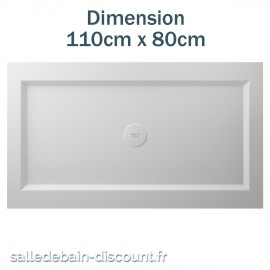 TEUCO-RECEVEUR DE DOUCHE PAPER 110cmx80cm EN DURALIGHT BLANC-950A