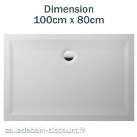 TEUCO-RECEVEUR DE DOUCHE PERSPECTIVE 100cmx80cm EN ACRYLIQUE-NT14A