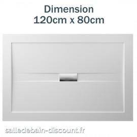 TEUCO-RECEVEUR DE DOUCHE WILMOTTE 120cmx80cm EN ACRYLIQUE-NT56