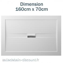TEUCO-RECEVEUR DE DOUCHE WILMOTTE 160cmx70cm EN ACRYLIQUE-NT63