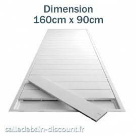 TEUCO-RECEVEUR DE DOUCHE PAPER 160cmx90cm EN DURALIGHT BLANC-933H