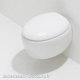 GSG-Cuvette WC suspendue TOUCH en céramique noir brillant-TOWCSO002