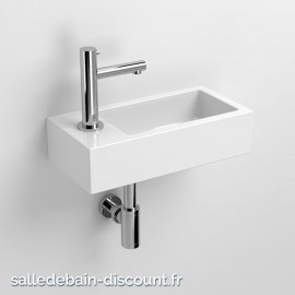CLOU FLUSH 3-LAVE-MAINS CÉRAMIQUE BLANC-CL/03.03032-1
