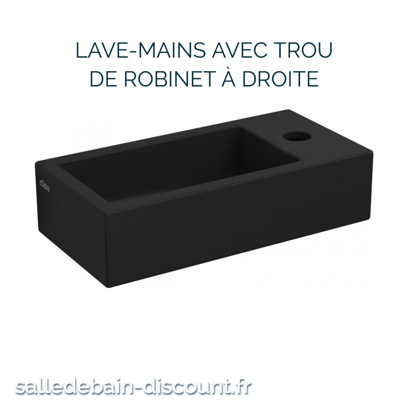CLOU FLUSH 3-LAVE-MAINS CÉRAMIQUE NOIR MAT-CL/03.12030 à seulement ...