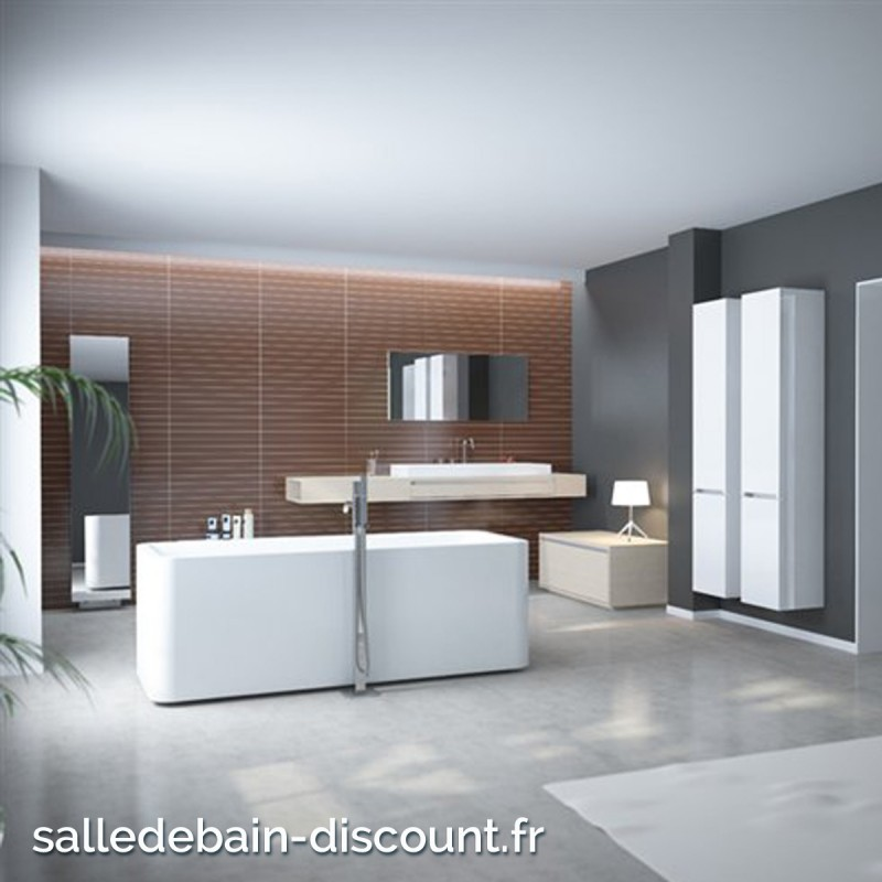 clou baignoire acrylique 1720x74cm a poser en ilot avec mitigeur et. Black Bedroom Furniture Sets. Home Design Ideas