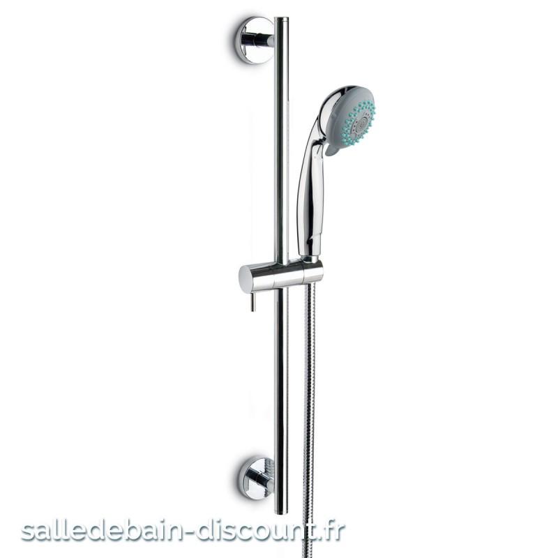 newform barre de douche r glable avec douchette multijets chrom 68. Black Bedroom Furniture Sets. Home Design Ideas