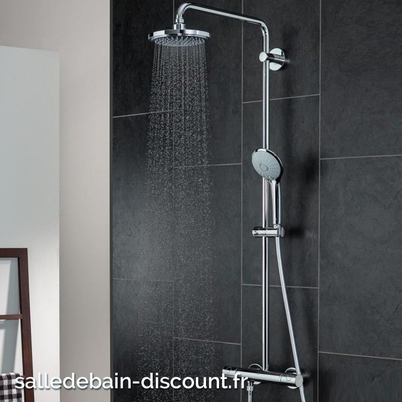 grohe colonne de douche thermostatique avec douchette 27296001 se. Black Bedroom Furniture Sets. Home Design Ideas