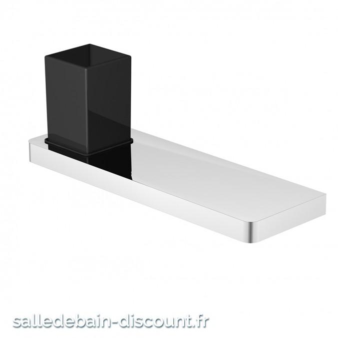 STEINBERG-TABLETTE CHROMÉE AVEC SUPPORTS EN LAITON ET VERRE SATINÉ-4202011-2