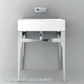 TEUCO- console chromée avec Vasque duralight 65x45x85cm-U9Z3D