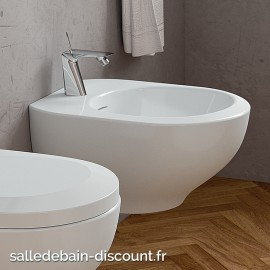 TEUCO- Bidet suspendu blanc mat 53x39x29cm-X36AU