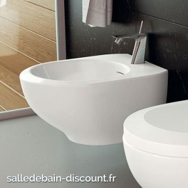 TEUCO- Bidet suspendu blanc brillant OUTLINE 53x39x29cm-X36A