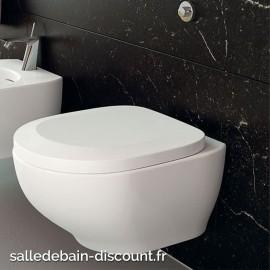 TEUCO- Toilette suspendu blanc brillant avec frein de chutte 53x39x33cm-X35F