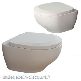 TEUCO- Toilette suspendue blanc mat OUTILINE avec frein de chute 53x39x33cm-X35UF