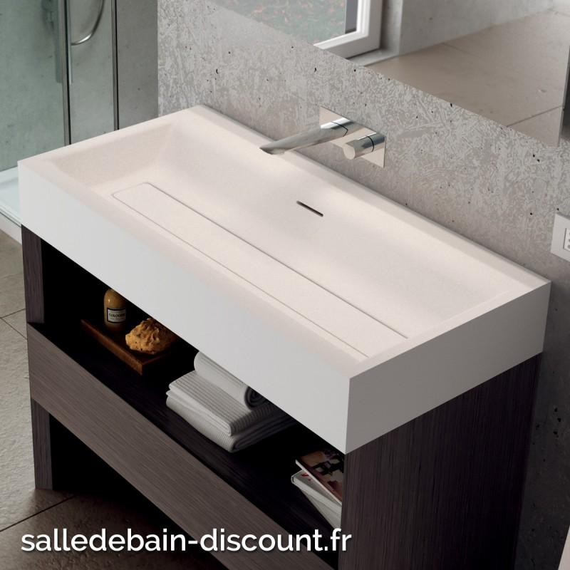 teuco vasque poser suit en duralight blanc sans trou de robinett. Black Bedroom Furniture Sets. Home Design Ideas