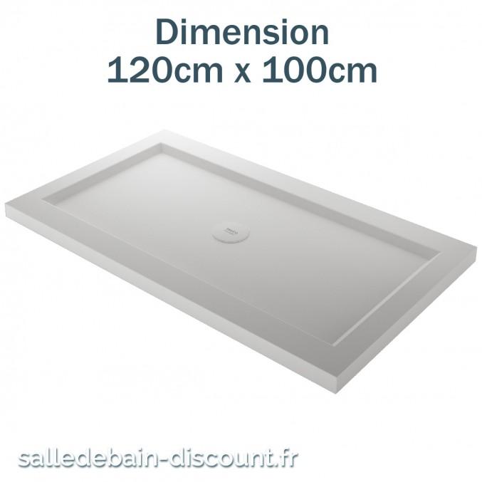TEUCO-RECEVEUR DE DOUCHE PAPER 120cmx100cm EN DURALIGHT BLANC