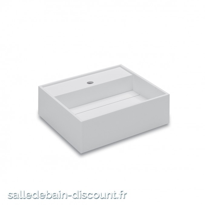 "COSMIC-Lavabo suspendu en ""solid surface"" avec siphon-7390502"