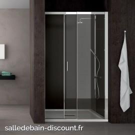 TEUCO-Paroi de douche à porte coulissante MOVING en niche 100x195cm-NR10