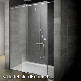 TEUCO-Paroi de douche à porte coulissante ENDLESS 130x200cm-DBG6