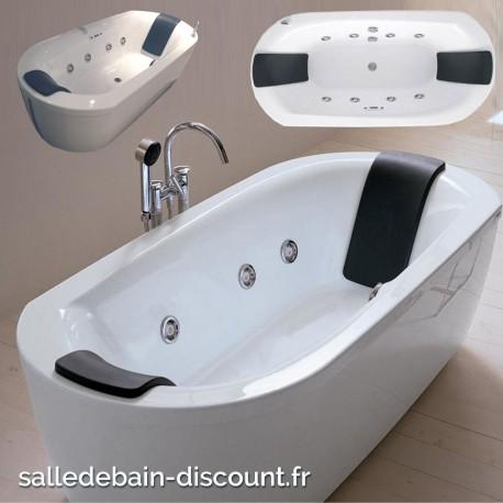 Teuco baignoire baln o 8 buses acrylique 190x90cm noovalis for Teuco baignoire