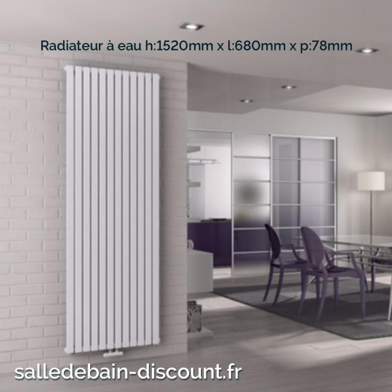 irsap piano 1 radiateur vertical blanc eau 1520x680x78mm. Black Bedroom Furniture Sets. Home Design Ideas
