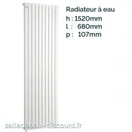 IRSAP PIANO 2-Radiateur vertical double blanc à eau 1520x680x107mm-P2F152012
