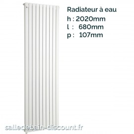 IRSAP PIANO 2-Radiateur vertical double blanc à eau 2020x680x107mm-P2F202012