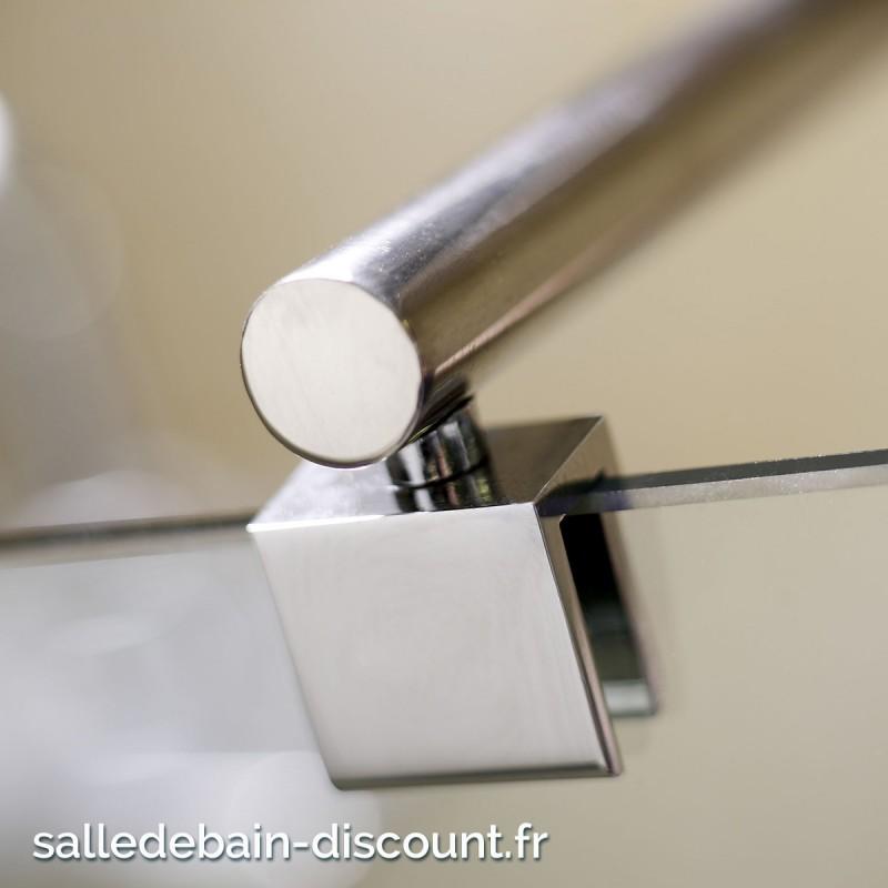 Flair paroi de douche fixe paisseur 8mm 120x200cm - Barre de stabilisation pour paroi de douche ...