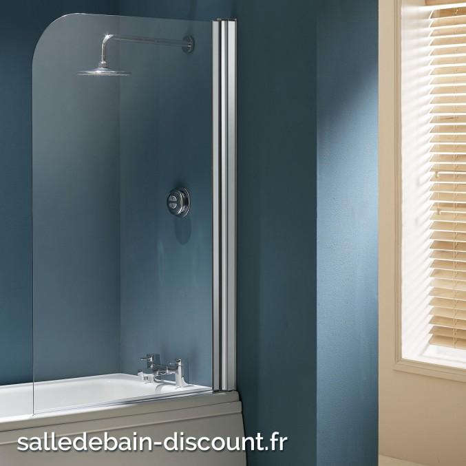 FLAIR-Paroi de baignoire fixe épaisseur 5mm-134x85cm-HBSG11S