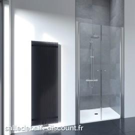 FLAIR-Portes de douche battantes épaisseur 6mm-100x195cm-FFSD100S