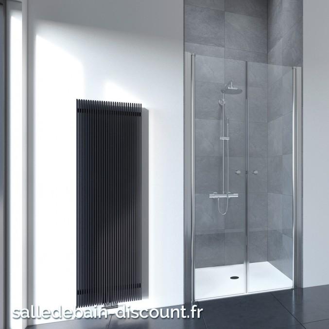 FLAIR-Paroi de douche portes battantes épaisseur 6mm-80x195cm-FFSD80S