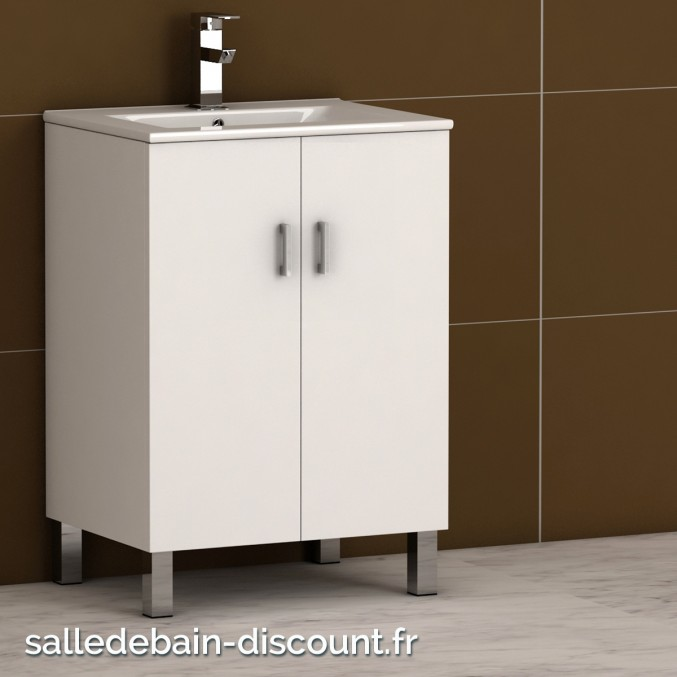 Coycama meuble lavabo 60x84x45cm serie basic 60 for Lavabo plus meuble