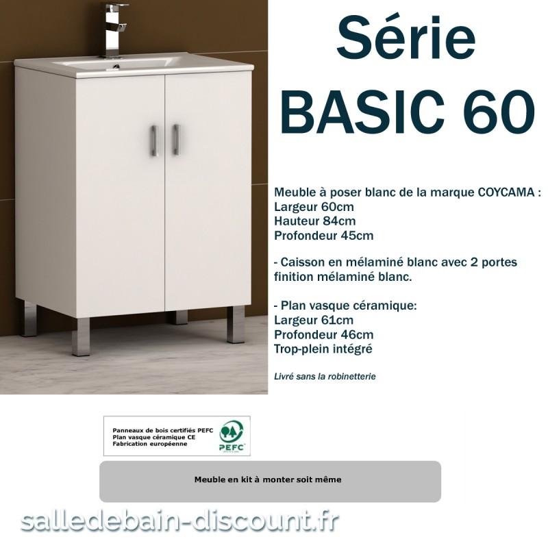 Caisson Sous Evier 60 Great Meuble De Cuisine Sousvier Portes Blanc