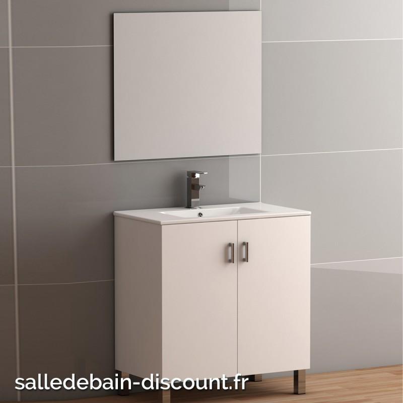 Coycama meuble lavabo 80x84x45cm serie basic 80 avec miroir seule for Fabrique meuble a lavabo