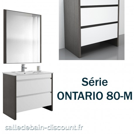 coycama meuble lavabo 80x79x45cm serie ontario 80 m seulement 990. Black Bedroom Furniture Sets. Home Design Ideas