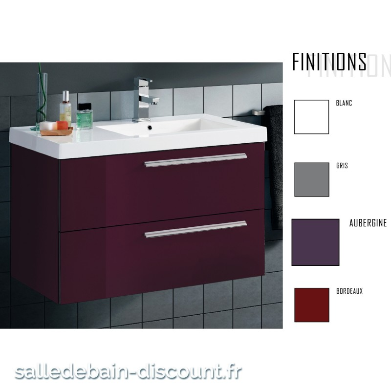 Coycama meuble lavabo 80x48x45cm serie ola 80 seulement 55 for Fabrique meuble a lavabo