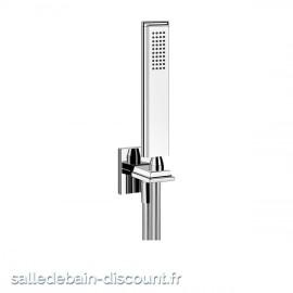GESSI ELEGANZA 46127-Ensemble ELEGANZA comprenant support fixe, flexible 1,50 m et douchette anticalcaire.