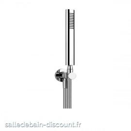GESSI OVALE 21623-Ensemble OVALE comprenant support fixe, flexible 1,50 m et douchette anticalcaire.
