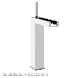 GESSI RETTANGOLO COLOUR finition chromée11985-MITIGEUR LAVABO AVEC LED