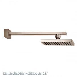 GESSI RETTANGOLO 20148-CIEL DE PLUIE chromé 216x140mm ORIENTABLE ANTICALCAIRE AVEC BRAS MURAL
